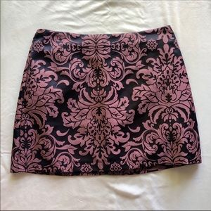 Purple and Navy Mini Skirt (WORN ONLY ONCE)